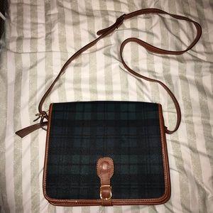 Block Watch Plaid Crossbody Bag